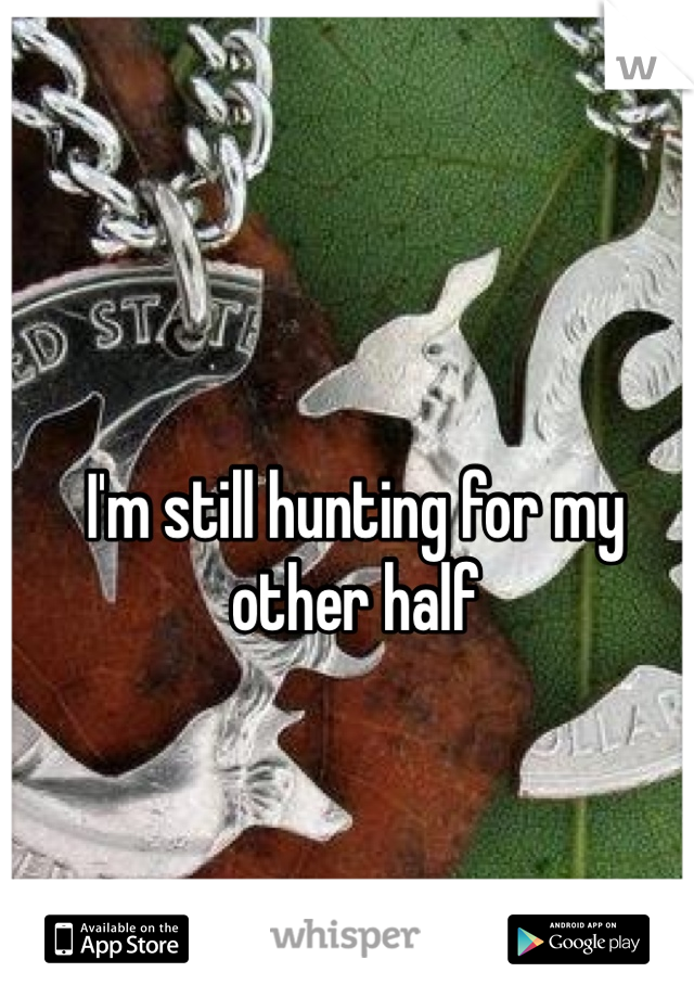 I'm still hunting for my other half