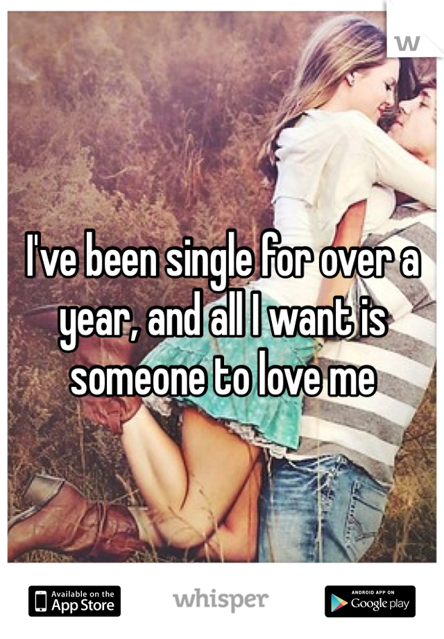 I've been single for over a year, and all I want is someone to love me