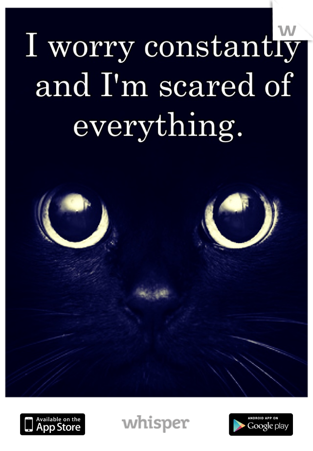 I worry constantly and I'm scared of everything.
