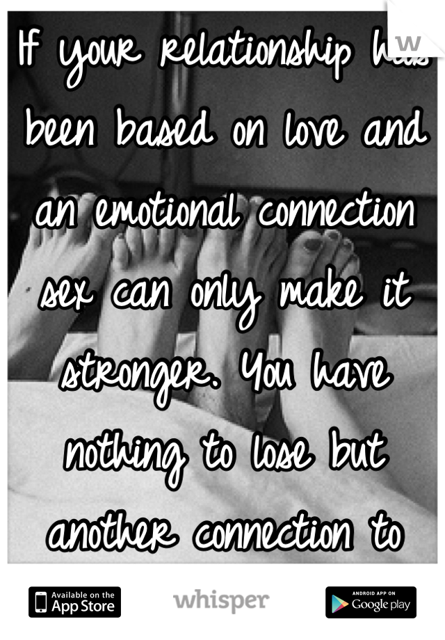 Emotional connection relationship