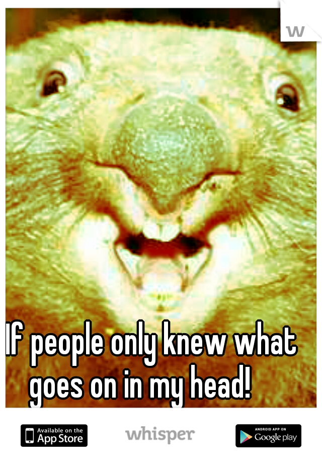 If people only knew what goes on in my head!