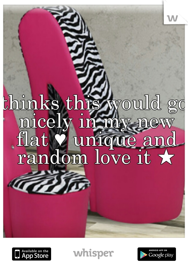 thinks this would go nicely in my new flat ♥ unique and random love it ★
