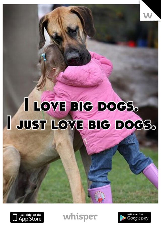 I love big dogs. I just love big dogs.