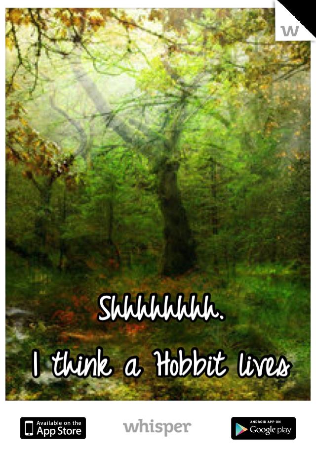 Shhhhhhhh. I think a Hobbit lives here, back away slowly.