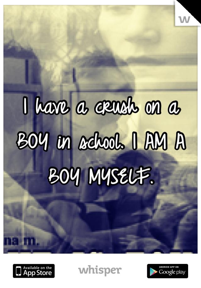 I have a crush on a BOY in school. I AM A BOY MYSELF.