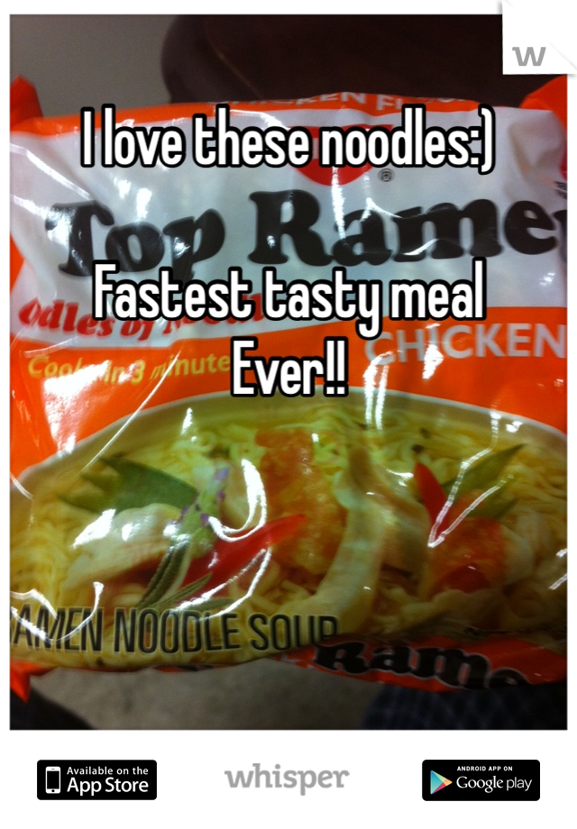 I love these noodles:)  Fastest tasty meal  Ever!!