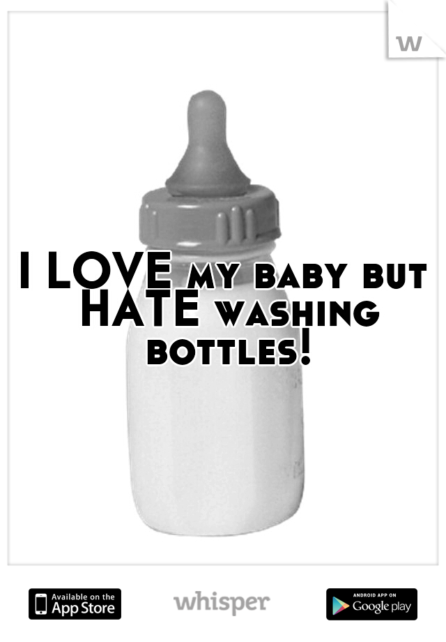 I LOVE my baby but HATE washing bottles!