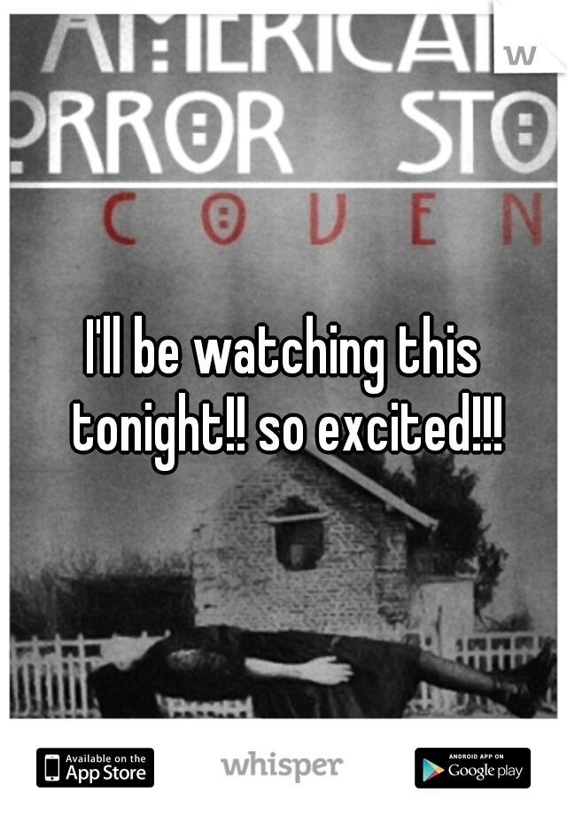 I'll be watching this tonight!! so excited!!!