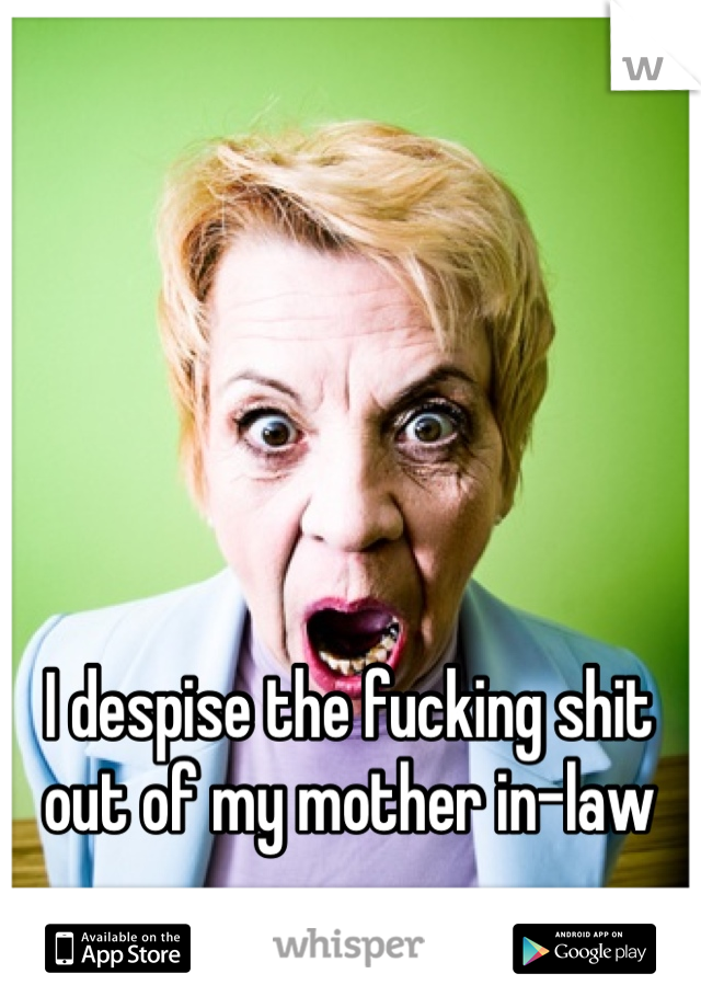 I despise the fucking shit out of my mother in-law