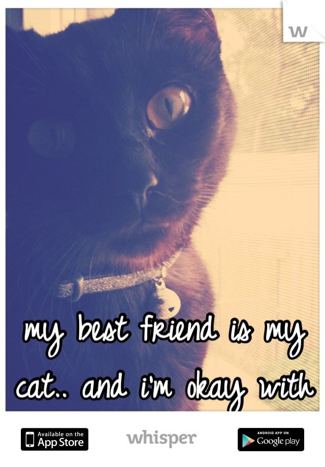 my best friend is my cat.. and i'm okay with that.