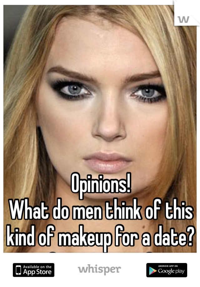 Opinions! What do men think of this kind of makeup for a date? Sexy or scary?