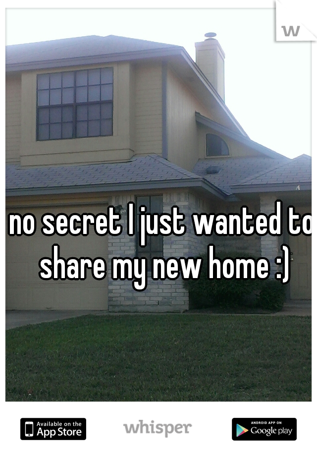 no secret I just wanted to share my new home :)