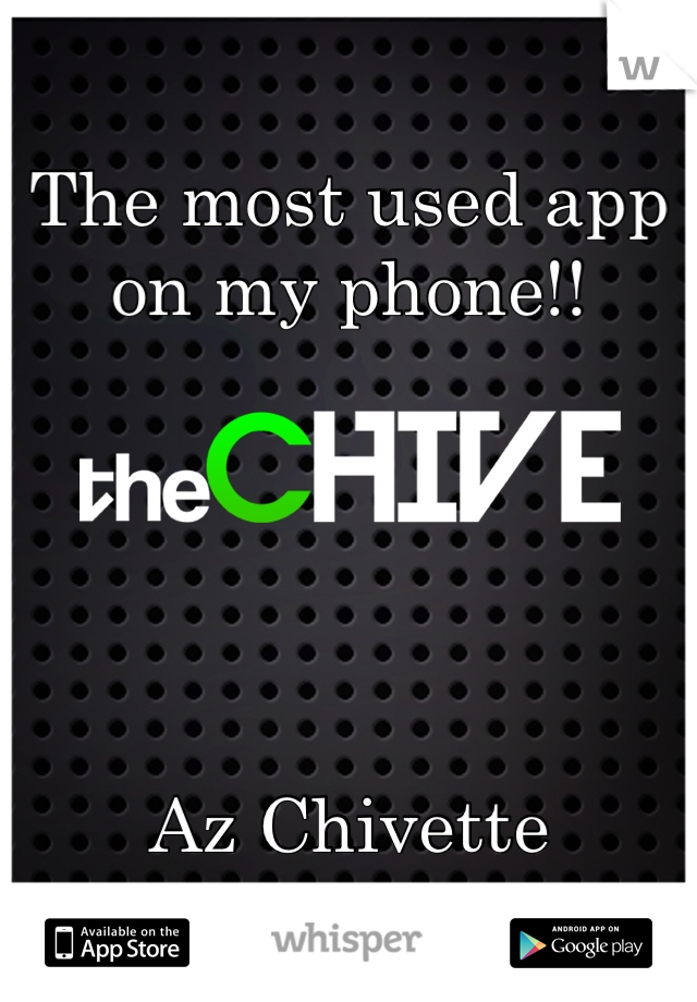 The most used app on my phone!!       Az Chivette