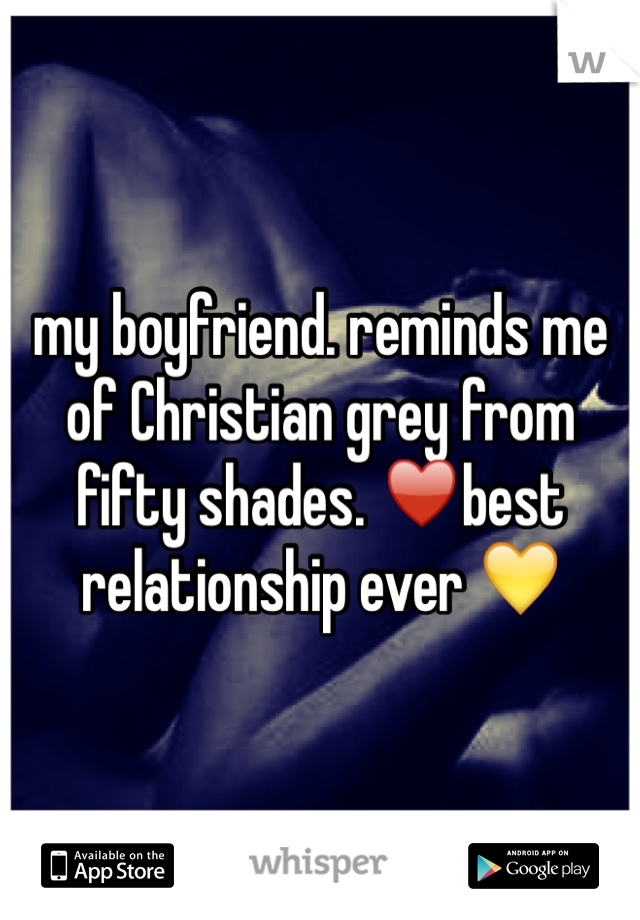 my boyfriend. reminds me of Christian grey from fifty shades. ♥️best relationship ever 💛