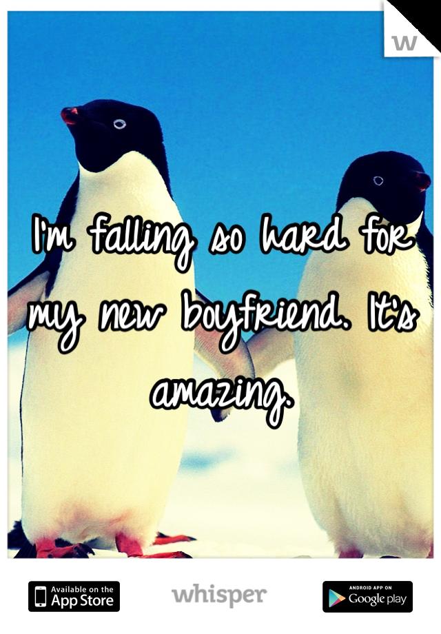 I'm falling so hard for my new boyfriend. It's amazing.