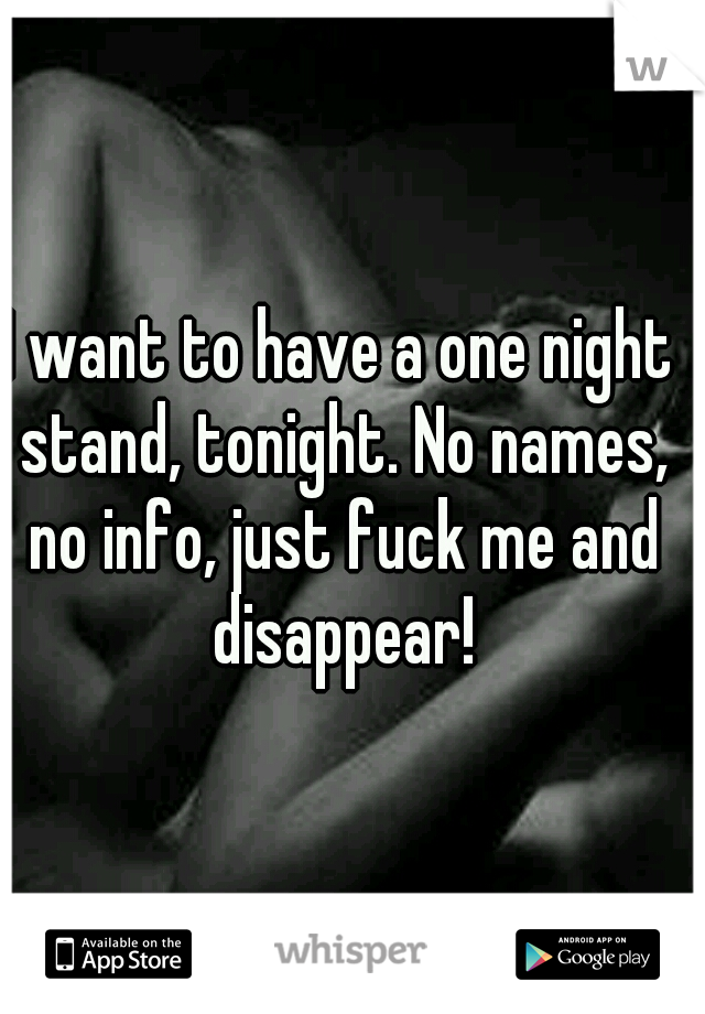 I Just Want To Fuck Tonight