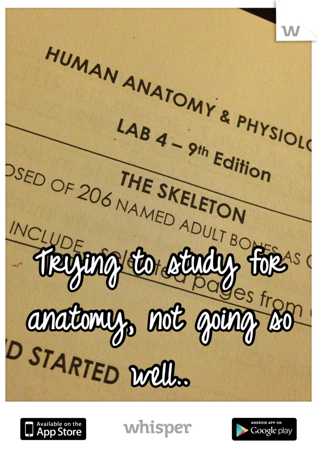 Trying to study for anatomy, not going so well..