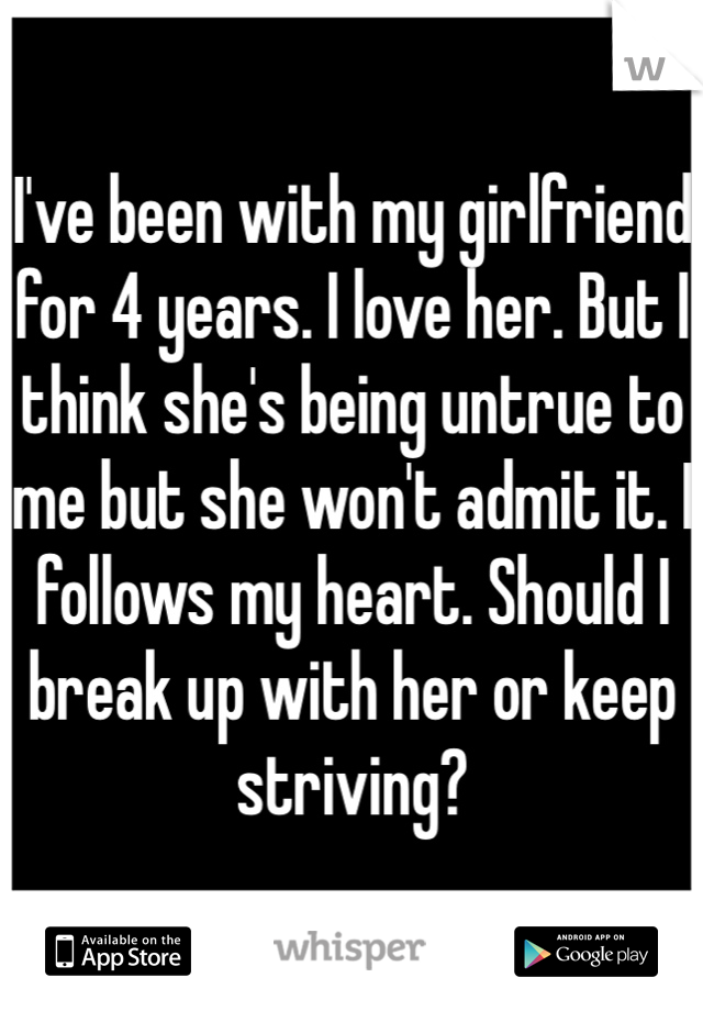 when should i break up with my girlfriend