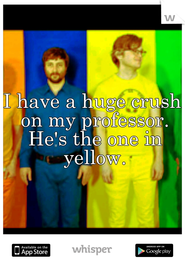 I have a huge crush on my professor. He's the one in yellow.