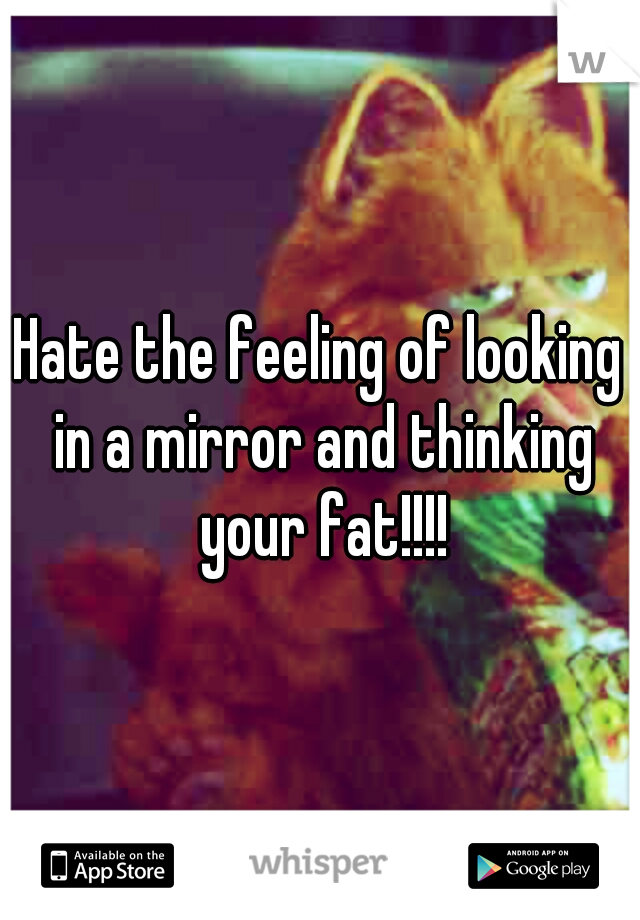 Hate the feeling of looking in a mirror and thinking your fat!!!!