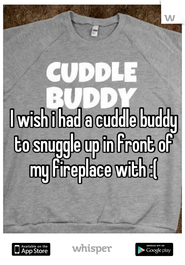 I wish i had a cuddle buddy to snuggle up in front of my fireplace with :(
