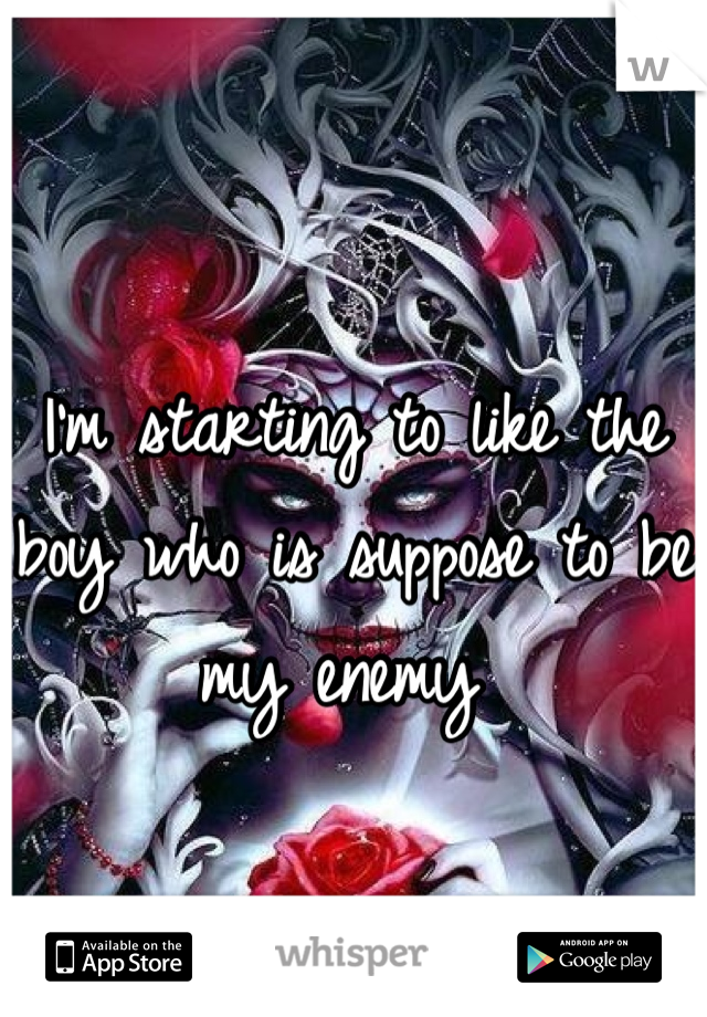 I'm starting to like the boy who is suppose to be my enemy