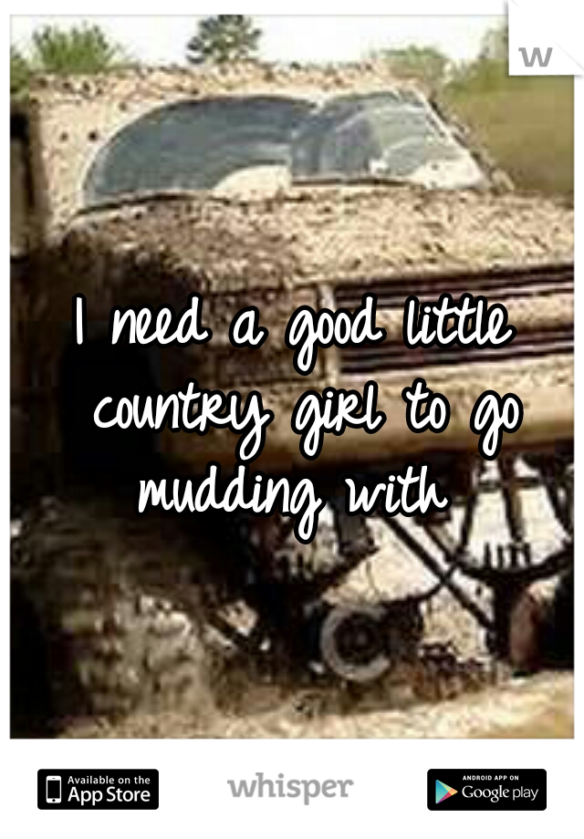 I need a good little country girl to go mudding with