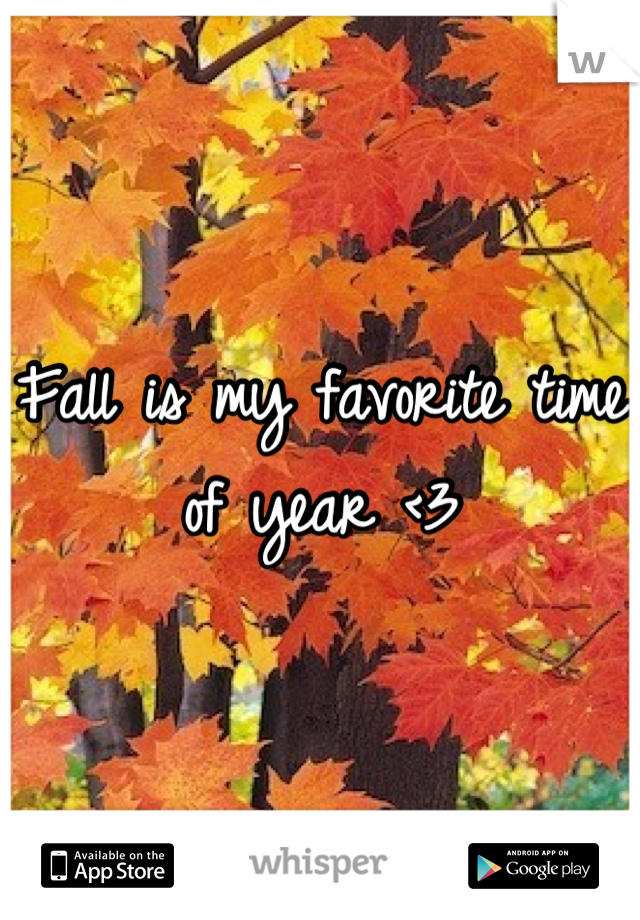 Fall is my favorite time of year <3