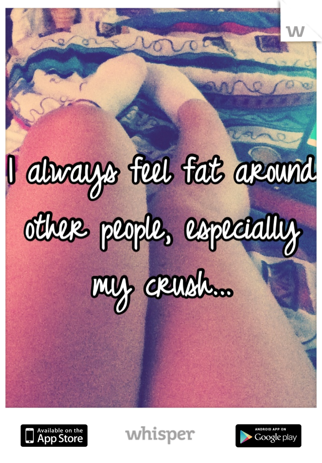 I always feel fat around other people, especially my crush...