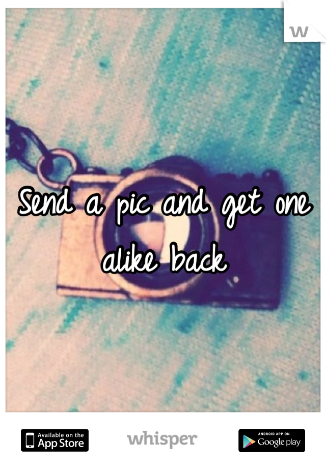 Send a pic and get one alike back