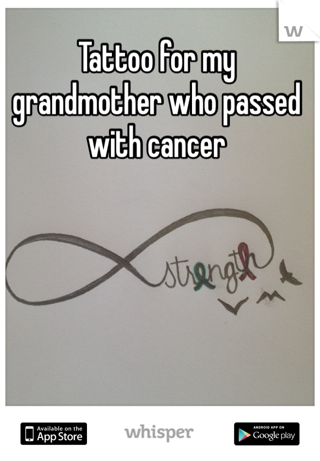 Tattoo for my grandmother who passed with cancer