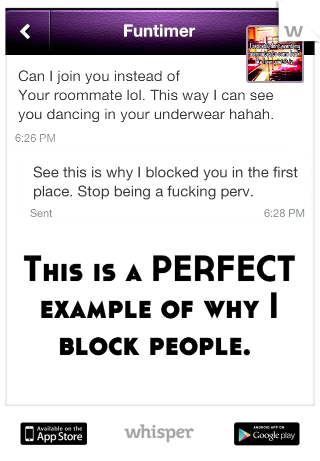 This is a PERFECT example of why I block people.