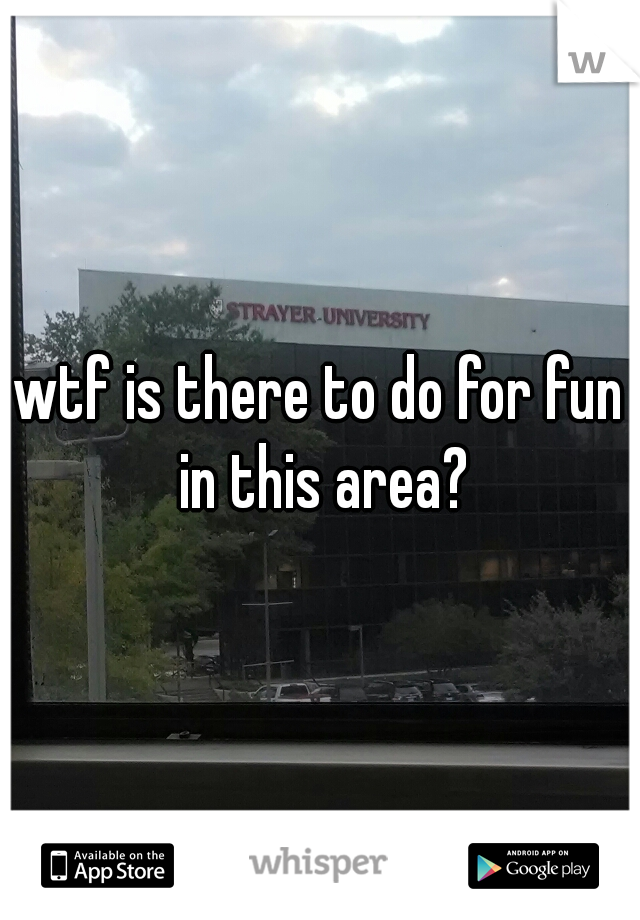 wtf is there to do for fun in this area?