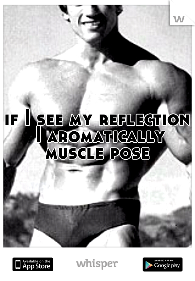if I see my reflection I aromatically muscle pose