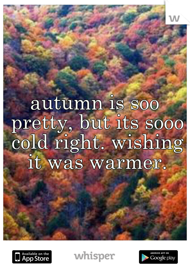 autumn is soo pretty, but its sooo cold right. wishing it was warmer.