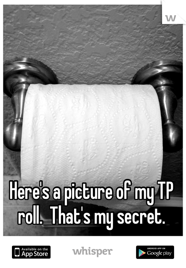 Here's a picture of my TP roll.  That's my secret.