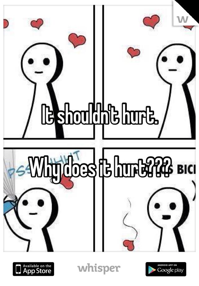 It shouldn't hurt.  Why does it hurt???