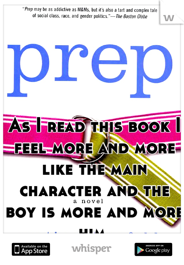 As I read this book I feel more and more like the main character and the boy is more and more him
