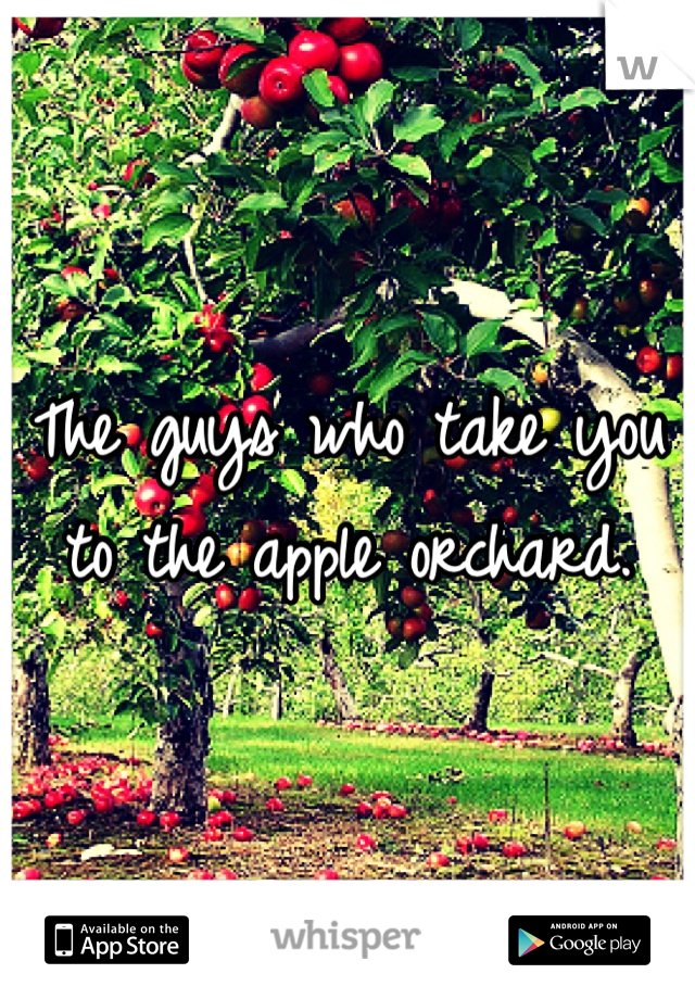 The guys who take you to the apple orchard.