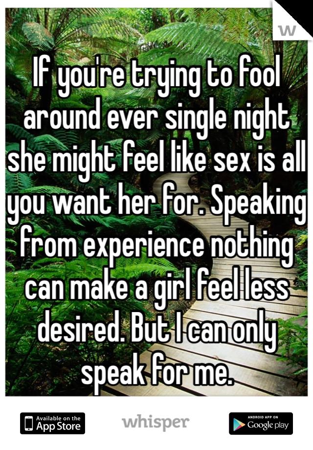 Make a fool of sex