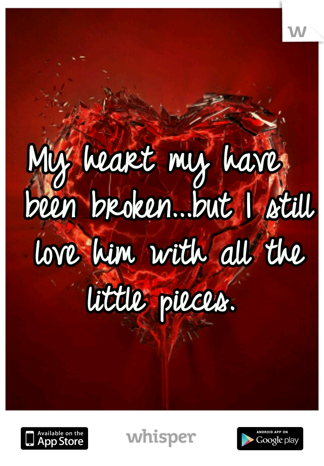 My heart my have  been broken...but I still love him with all the little pieces.