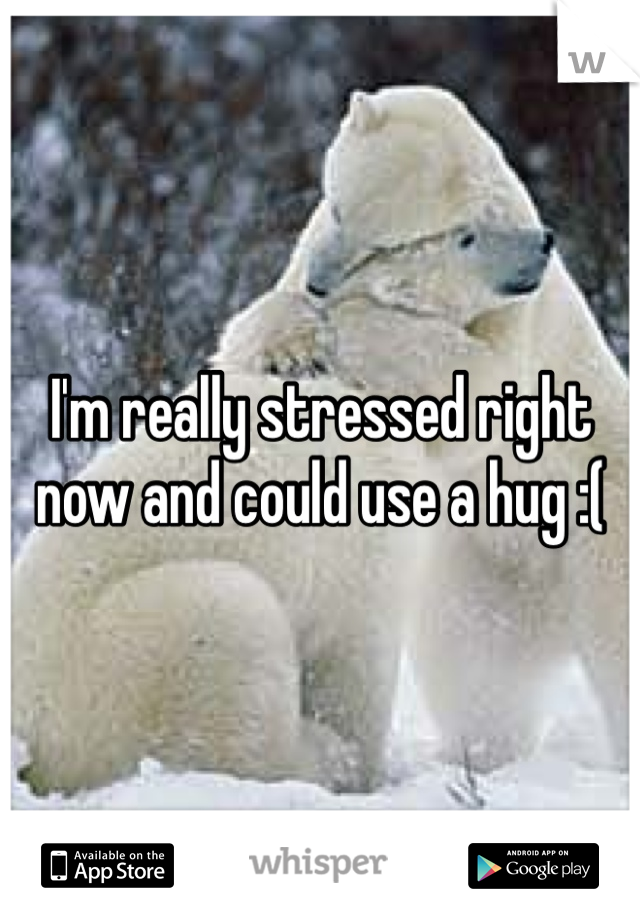 I'm really stressed right now and could use a hug :(