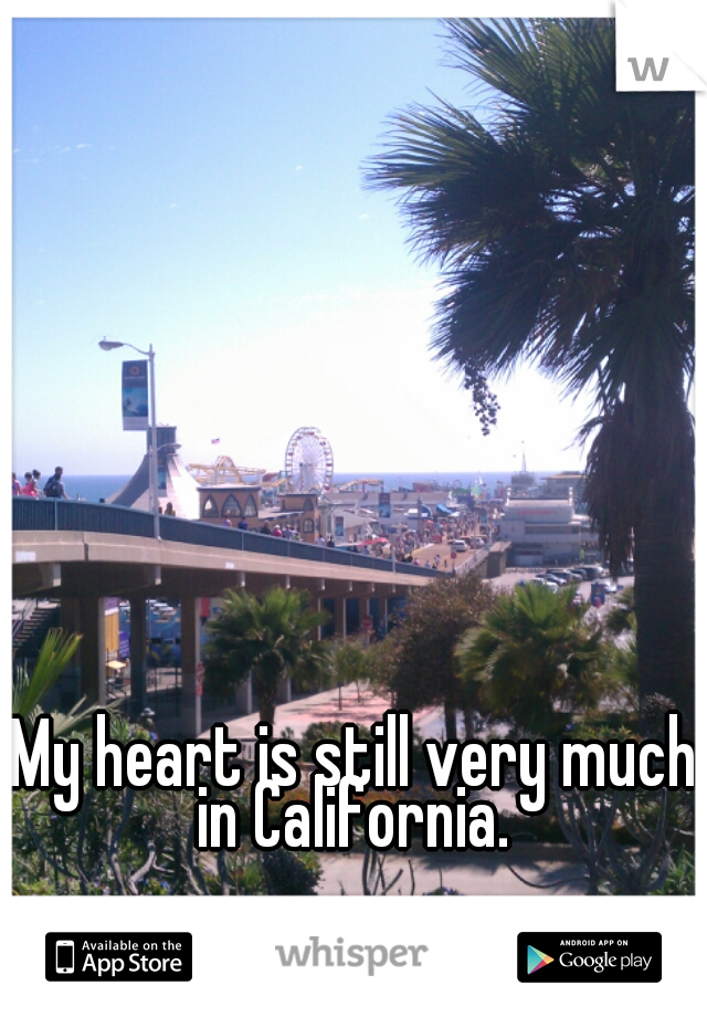 My heart is still very much in California.