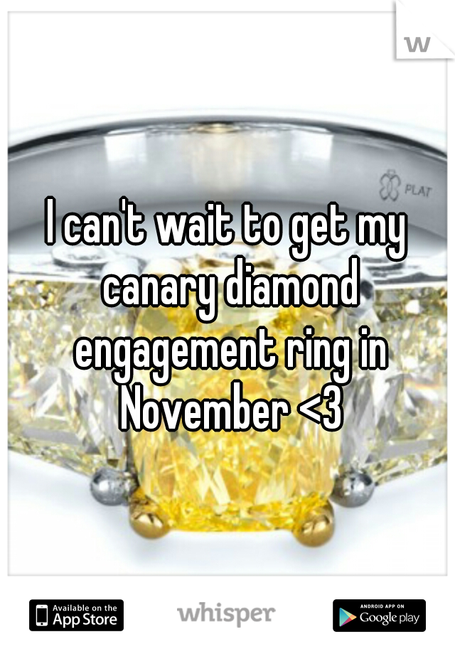 I can't wait to get my canary diamond engagement ring in November <3