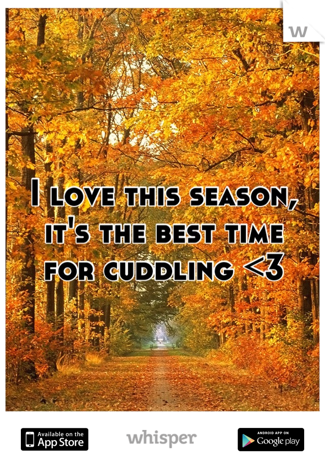 I love this season, it's the best time for cuddling <3
