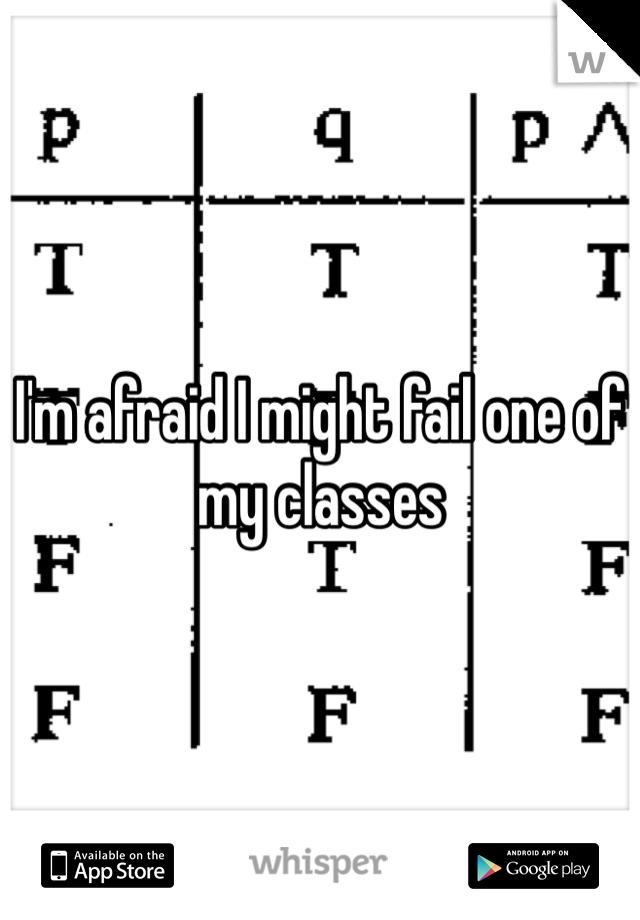 I'm afraid I might fail one of my classes