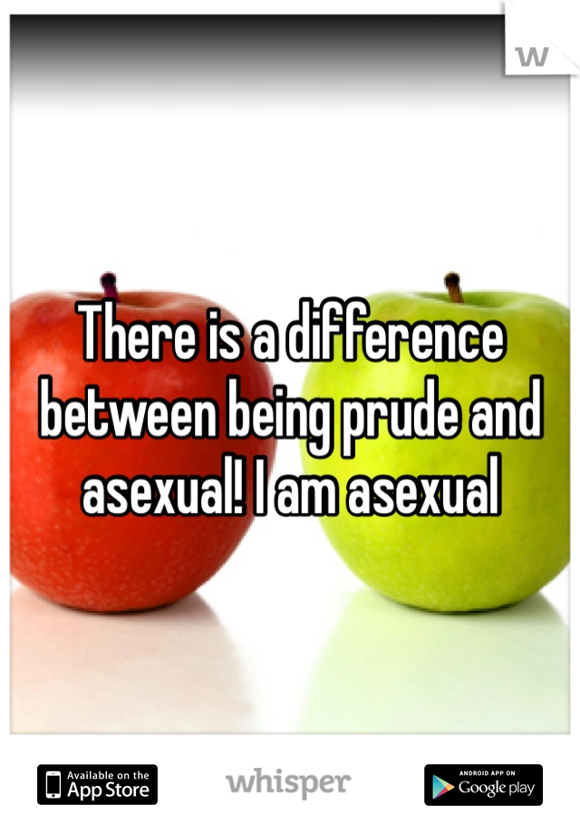 There is a difference between being prude and asexual! I am asexual