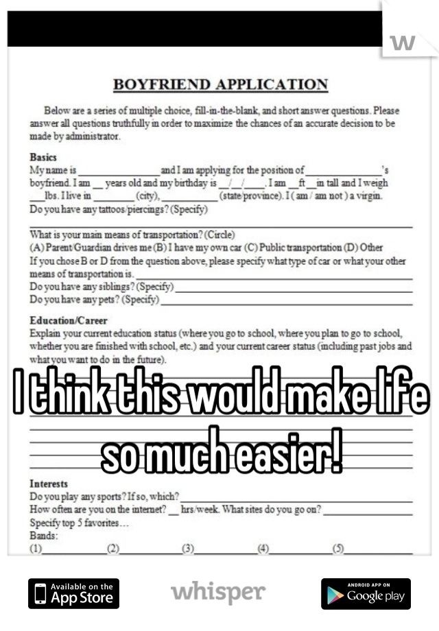 I think this would make life so much easier!