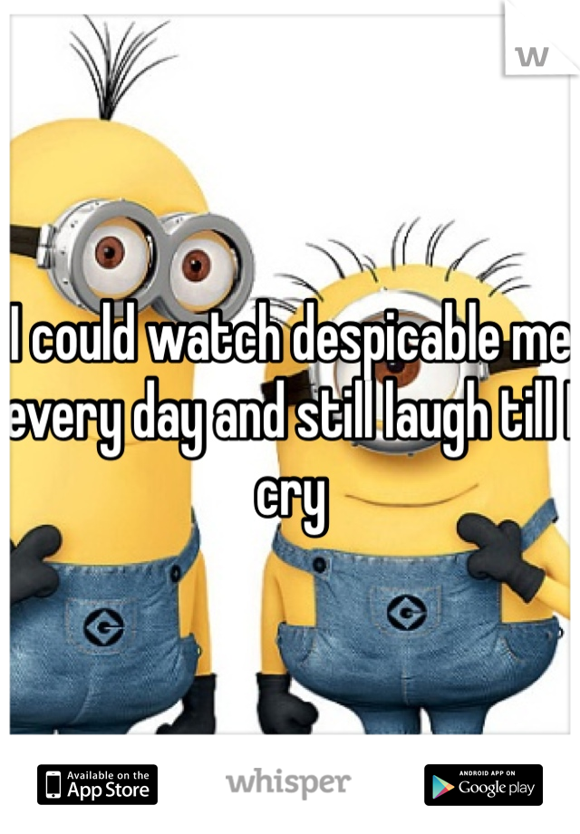 I could watch despicable me every day and still laugh till I cry