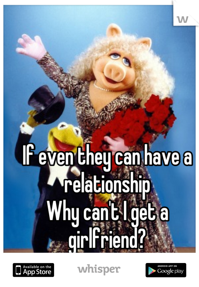 If even they can have a relationship  Why can't I get a girlfriend?
